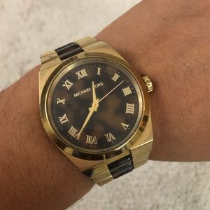 MK Gold and Brown Watch